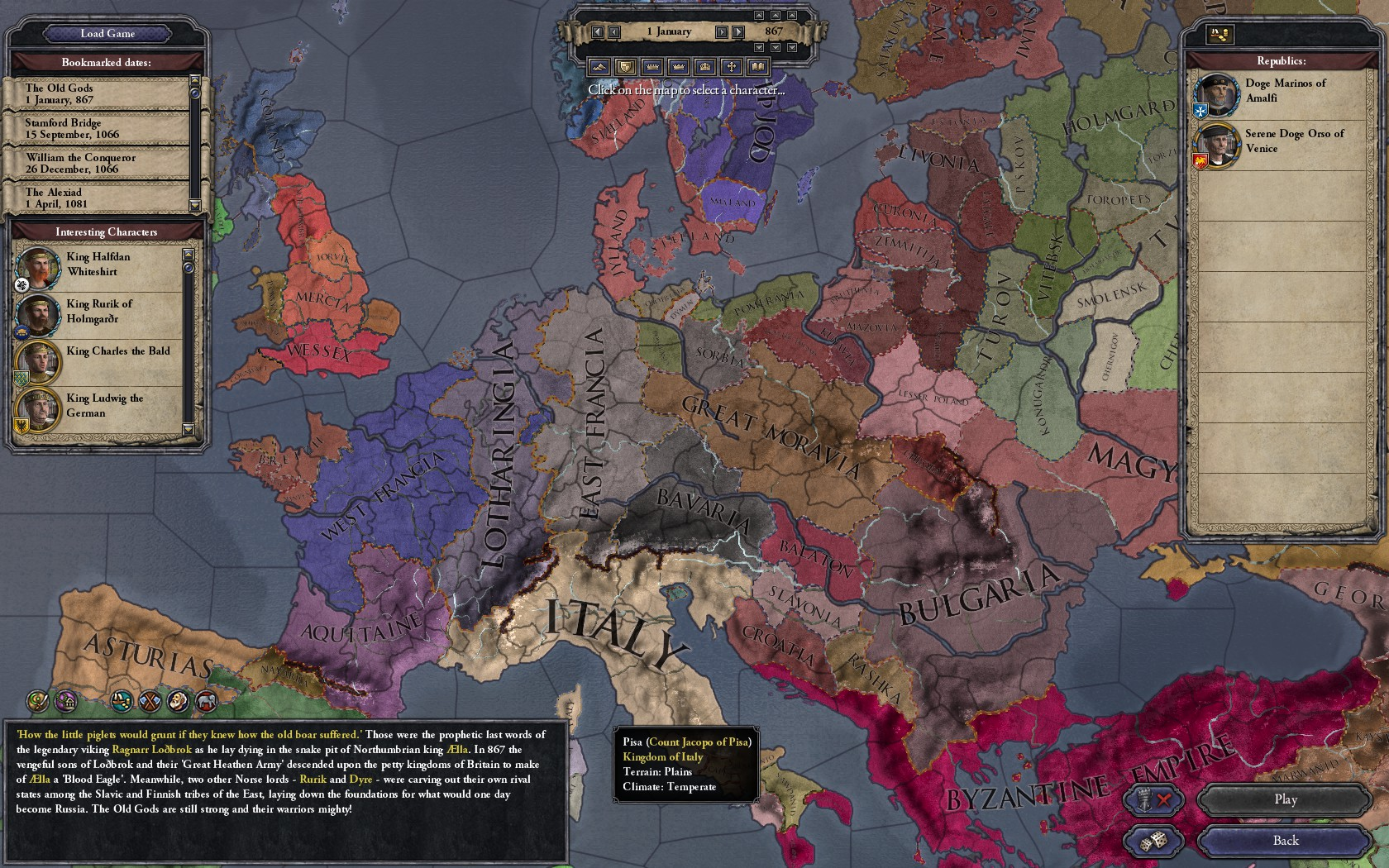 Project description - CKII Map
